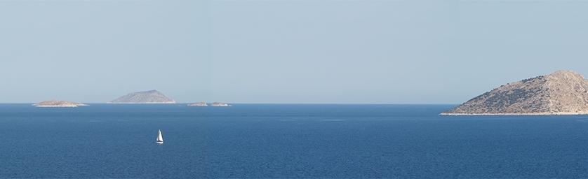 Θαλασσινό τοπίο στο Μυρτώο πέλαγος